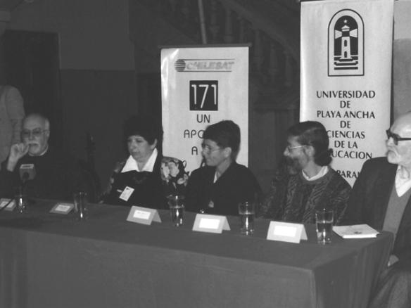 Pedro Susz Director de la Cinemateca en una reunión internacional en 1997