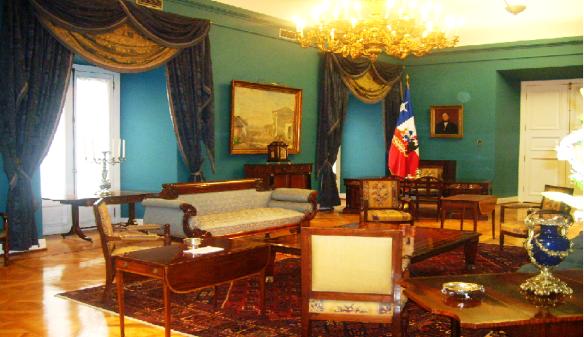 Salón Azul, Palacio de la Moneda, Santiago