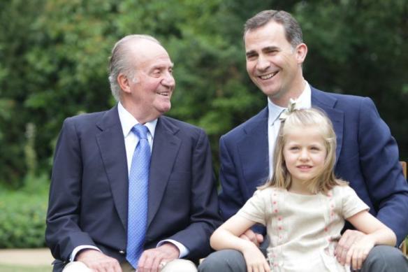 Juan Carlos I, Felipe VI y la princesa Leonor
