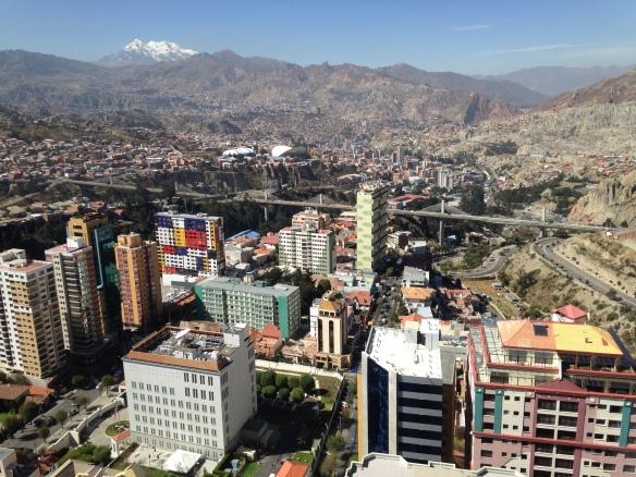 """La Paz vista desde el edificio """"Girasoles"""""""