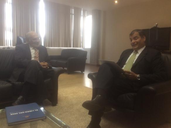En Quito con el Presidente de Ecuador Rafael Correa (13/11/2014)